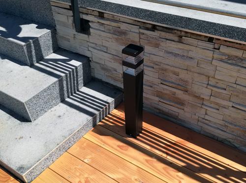 Mise en place d'un éclairage extérieur sur terrasse