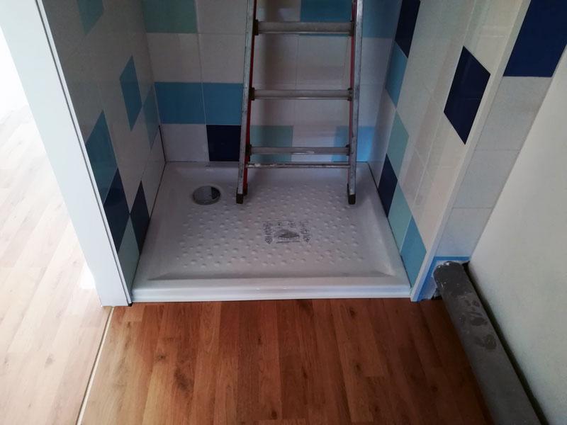 parquet mosaïque salle de bain