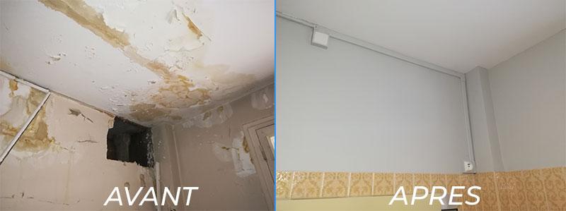 rénovation plafond peinture